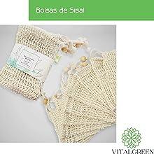 Bolsas multipropósitos jaboneras sisal vitalgreen 100% fibra natural ecológica sustentable belleza