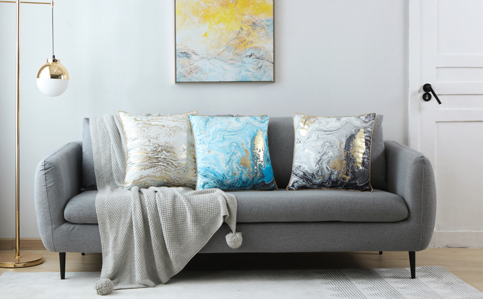 grey decorative throw pillow covers 18*18