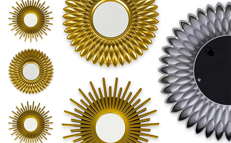 Mirrors for decorating any corner of your house. Combine the gold color for a chic decoration