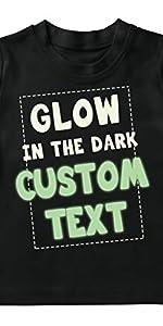 camiseta para niños que brilla en la oscuridad