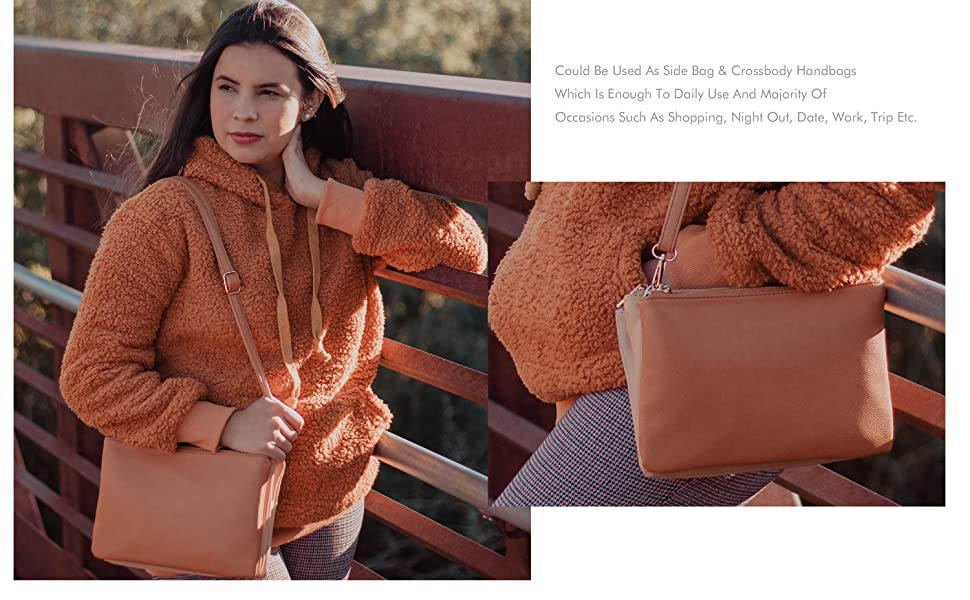 Crossbody Bags for Women Mominside Leather Crossbody Purse Handbag