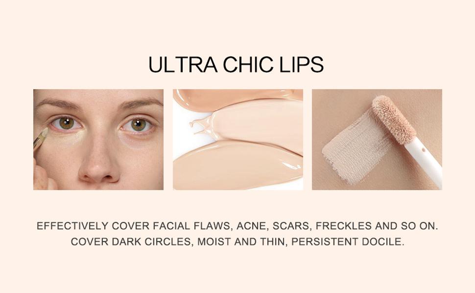 long lasting waterproof full cover eye face body liquid concealer cream
