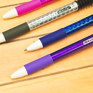 BAZIC Reward Ballpoint Pen w/Finger Topper