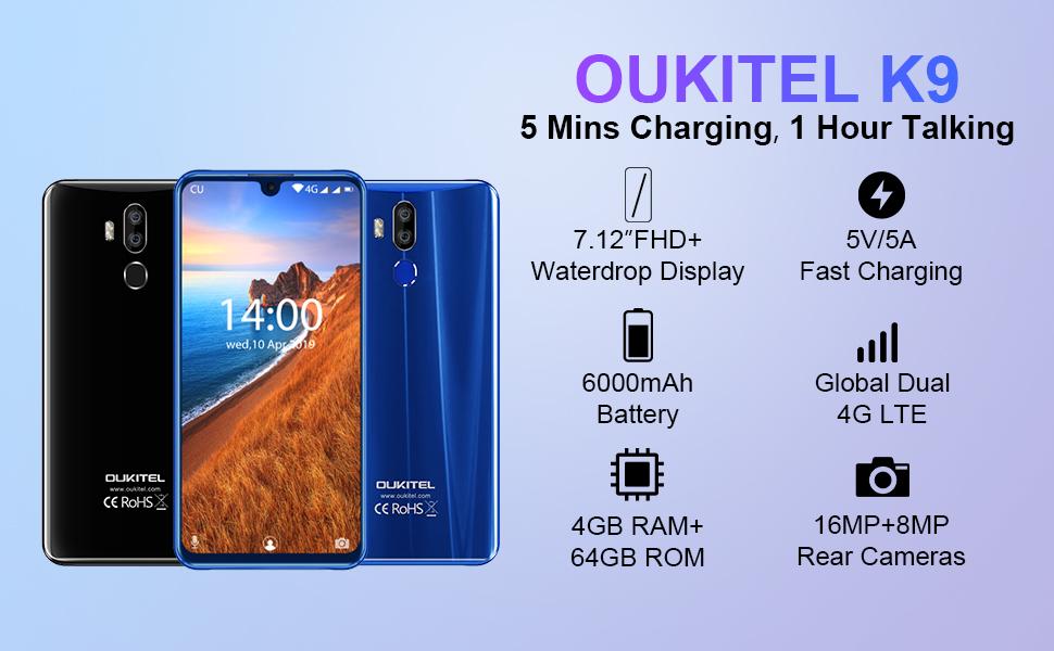 oukitel k9 FHD battery charging