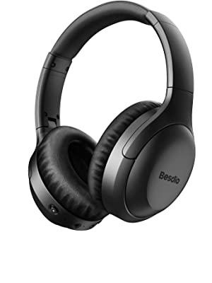 1  Active Noise Cancelling Headphones, Wireless Headphones Bluetooth Headphones with Mic, BesDio Over Ear Headphones with Quick Charge, Bluetooth 5.0 Deep Bass, 30H Playtime for Online Class Home Work PC c3d6425e 4f15 4085 9405 5aa6937b3833