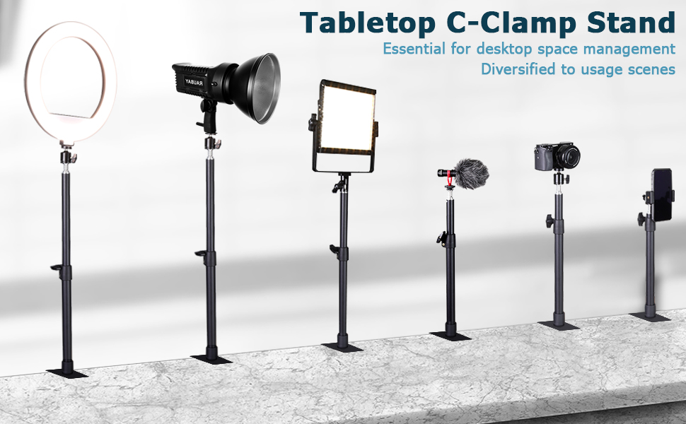 Tabletop c-clamp stand