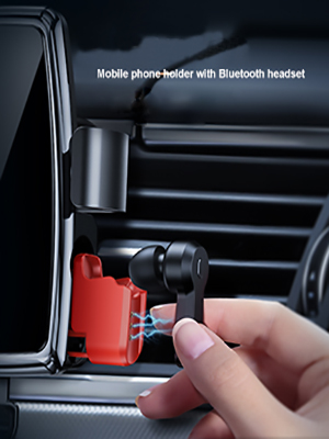 Mobile phone holder with Bluetooth headset