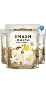 Marshmallow Treats by Smashmallow, Toasted Vanilla, 3 Count