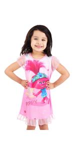 disney princess troll dreamworks world tour poppy nightgown sleepshirt dress pajama