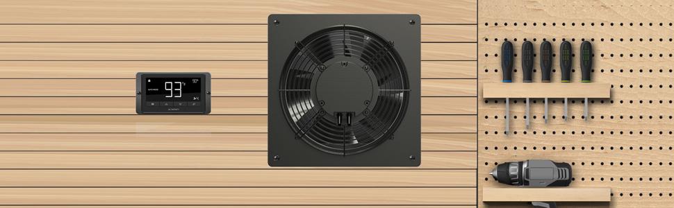 fan shutter louver, cooling fan shutters, garage shutter fan, garage exhaust fan with shutter