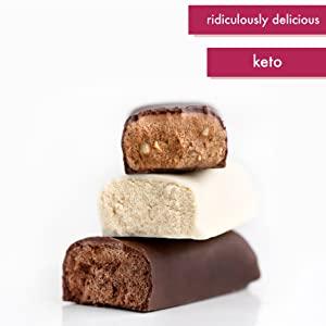 Protein bars high sanx fat bombs treats zero carb LCHF no sugar free chocolate dessert gluten-free