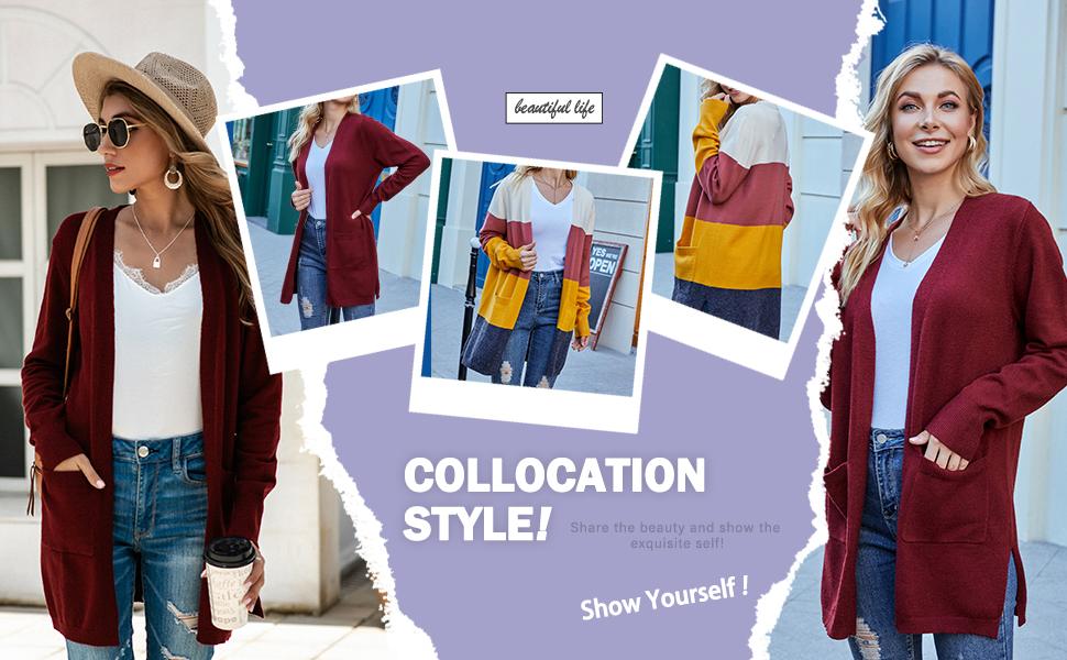 solid color cardigan