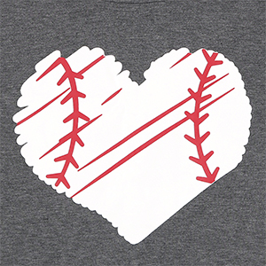 Baseball Letter Print Baseball letter print tank top, cute heart and baseball graphic