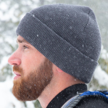 our wool beanie is and will stylish stretch over most adult's heads, fits snugly on cold windy days