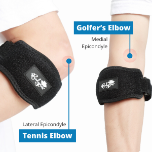 BODYPROX Elbow Brace 2 Pack for Tennis & Golfer's Elbow Pain Relief