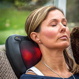 Massager Neck and Back Shiatsu Massage Pillow with Heat Deep Tissue Kneading Cushion 5