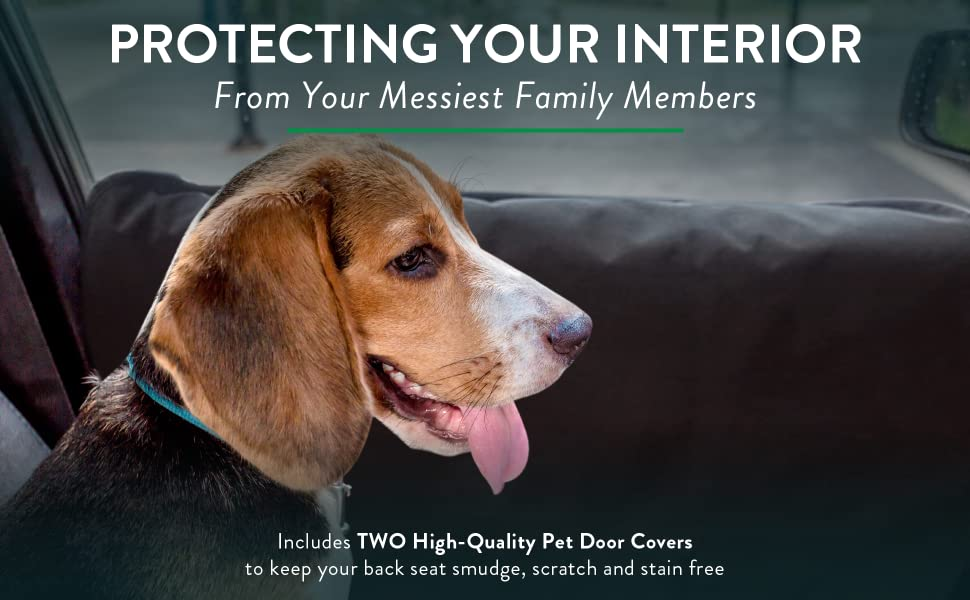 protecting your interior from your messiest family members - includes 2 high-quality pet door covers