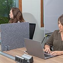 freestanding privacy desk panel