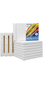 """5x7"""" stretched canvases 12 pack"""