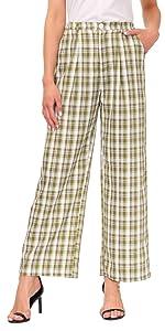 women plaid pants