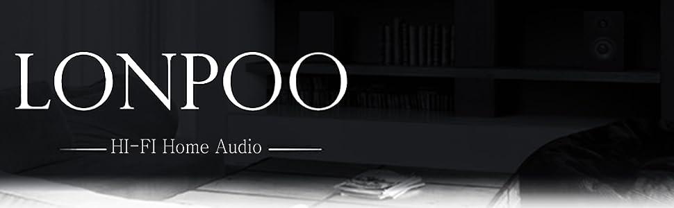 LONPOO LP42 Hifi Bookshelf Speakers Pair Passive Wooden Speakers 75W*2 RMS Enhance for Home Cinema