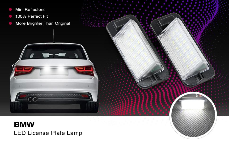 Led license plate light bulb white for BMW E36