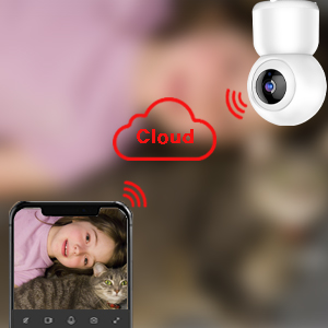 Mibao 1080P Telecamera Sorveglianza Wifi,videocamera IP Interno Wireless con Visione Notturna,Audio Bidirezionale,Notifiche in tempo reale del sensore di movimento,Allarme via APP