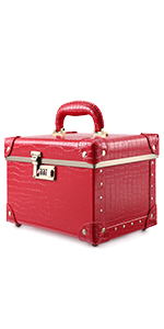red travel case