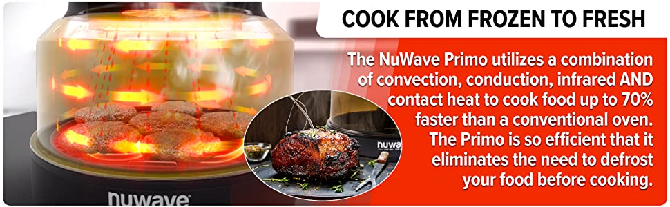 Nuwave Primo Cook from Frozen to Fresh