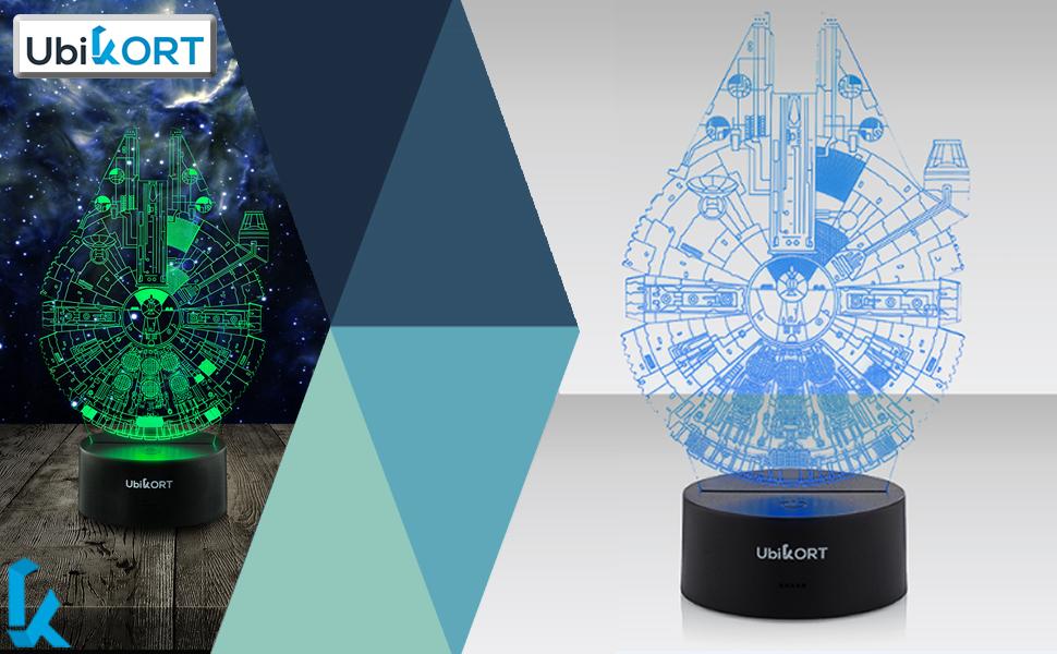 3D Lamp millennium falcon star wars