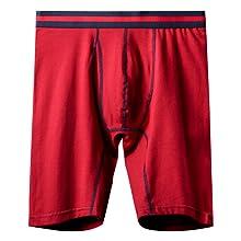 Men's red long leg underwear