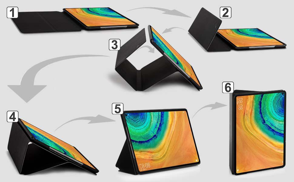 Huawei MatePad Pro 10.8 Pulgadas Funda Case Cover FC Funda para Huawei MatePad Pro 10.8 Negro Auto Sue/ño Estela Funci/ón Soporte Huawei MatePad Pro 10.8 2019 Funda y Bolsillo para Documentos