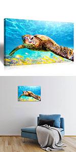 sea Turtle Wall Art Decor