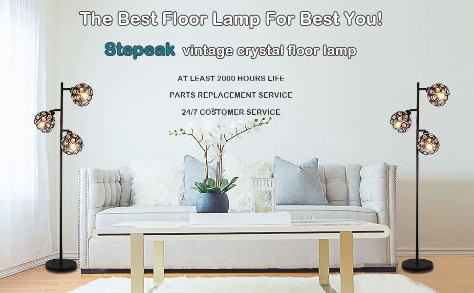 Vintage floor lamp for living room