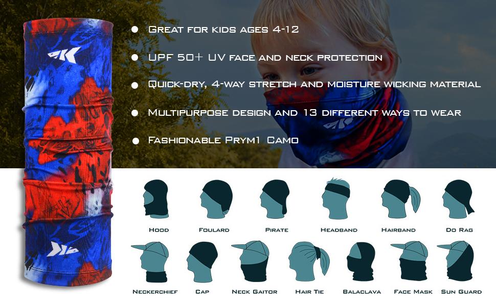kids neck gaiter kids face mask