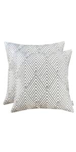 decorative pillows gray