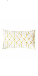 yellow decorative throw pillows