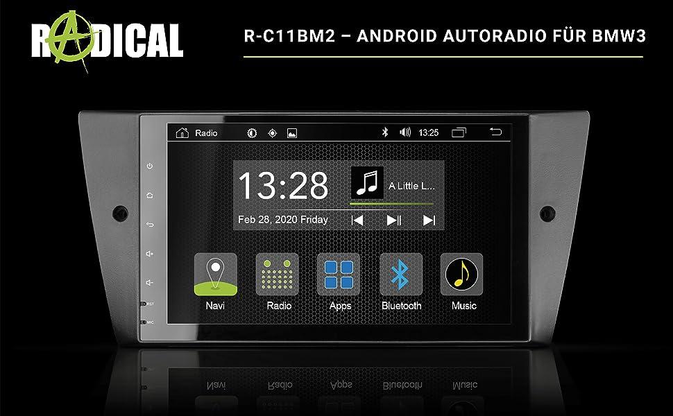 Radical R C11bm2 Android Autoradio Für Bmw 3 E90 E91 E92 E93 Lci Mit Dab Ukw Usb Bluetooth Wifi Wlan 9 Touchscreen App Radio Mit Android 9 0 Os Zum Navi Erweiterbar Navigation