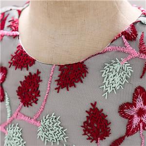 burgundy baby girl flower dress