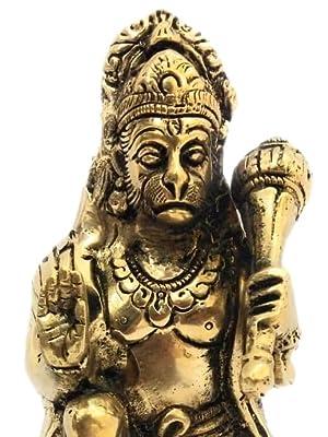 hanuman idol brass statue pooja room sitting position athizay