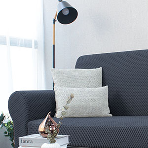 2 piece grey couch cover