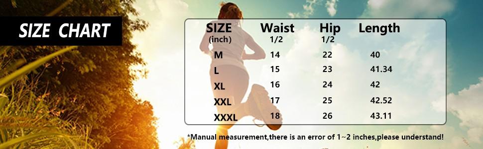 Men's Sweatpants Size Chart