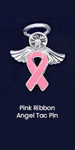 Pink Ribbon Angel Tac Pin