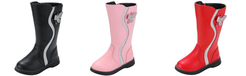 Girl's Mid Calf Winter Boots