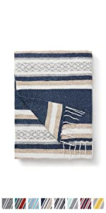 blanket mexican navajo native beach stripe throw décor outdoor camping quality indoor