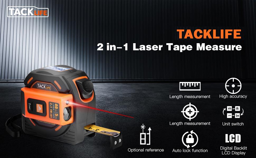 Laser tape measure