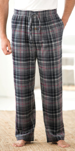 KingSize Mens Big /& Tall Flannel Plaid Pajama Pants