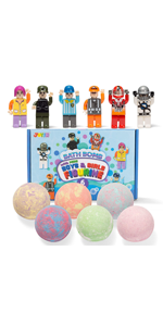 Bath Bomb with Mini Boys and Girls Figurine