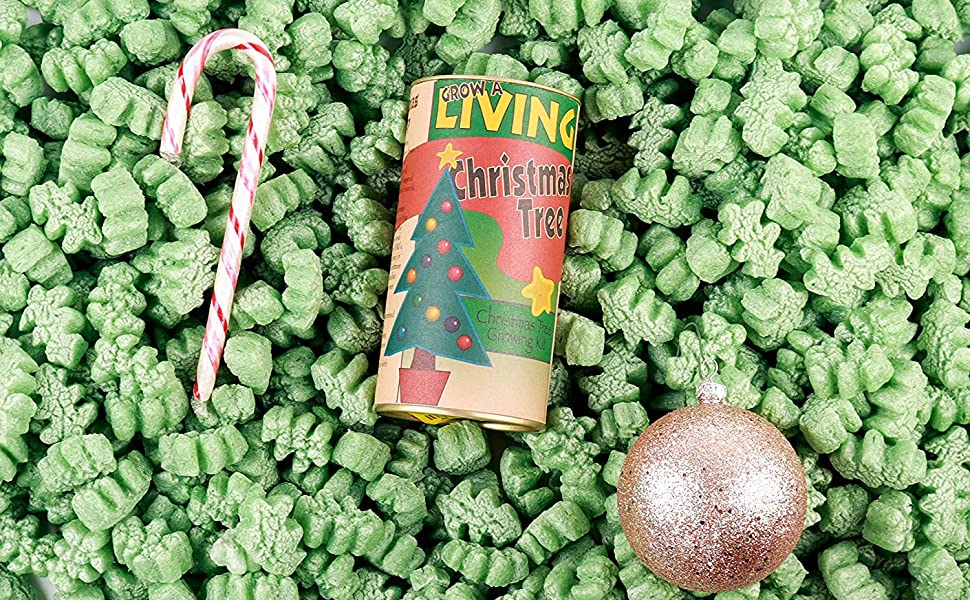 christmas tree shaped packing peanuts for the holidays winter presents celebration shipping gifts