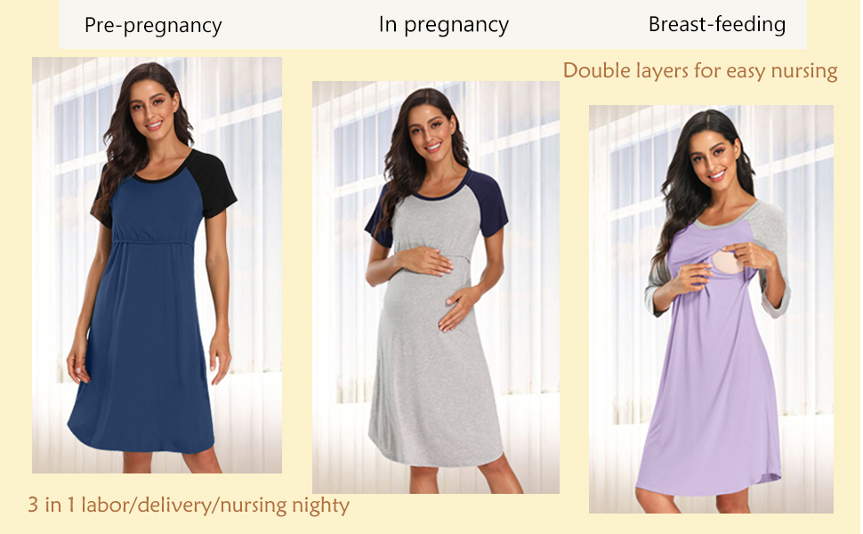 breastfeed gown dress